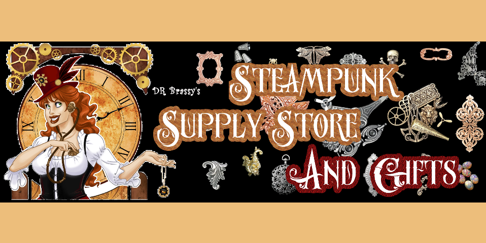 Steampunk Jewelry Supply Store Banner