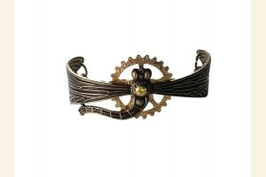 Geared Ox Brass Dragonfly Bracelet