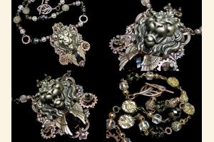 Regal Lion Statement Necklace