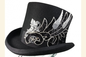 Silver Elegance Middy Top Hat